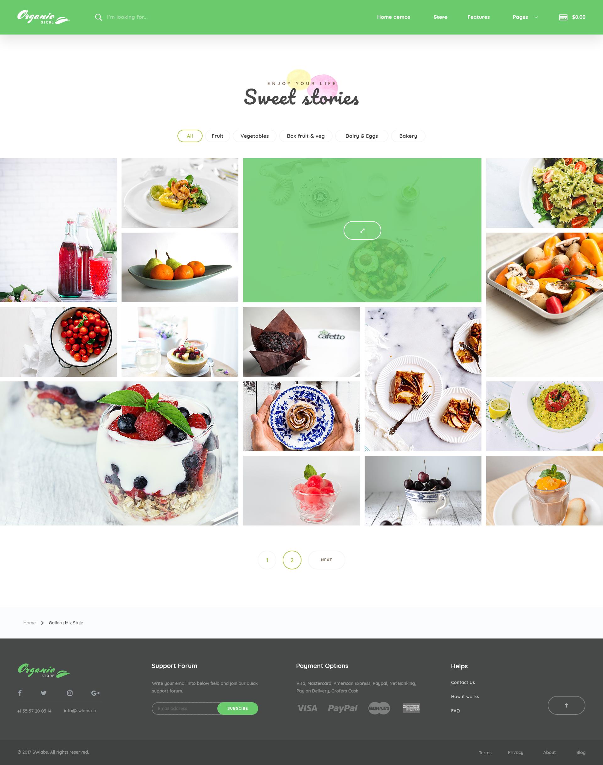 Organic Store - Organic Food PSD Template by TheRubikTemplate ...