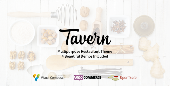 Tavern - Professional Restaurant Theme - Restaurants & Cafes Entertainment