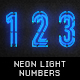 Neon Light Numbers And Symbols - GraphicRiver Item for Sale
