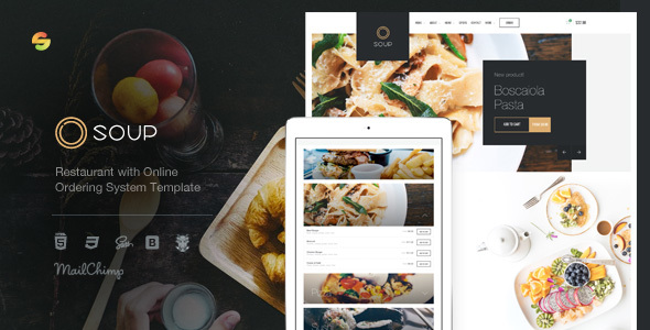 Soup - Restaurant with Online Ordering System Template