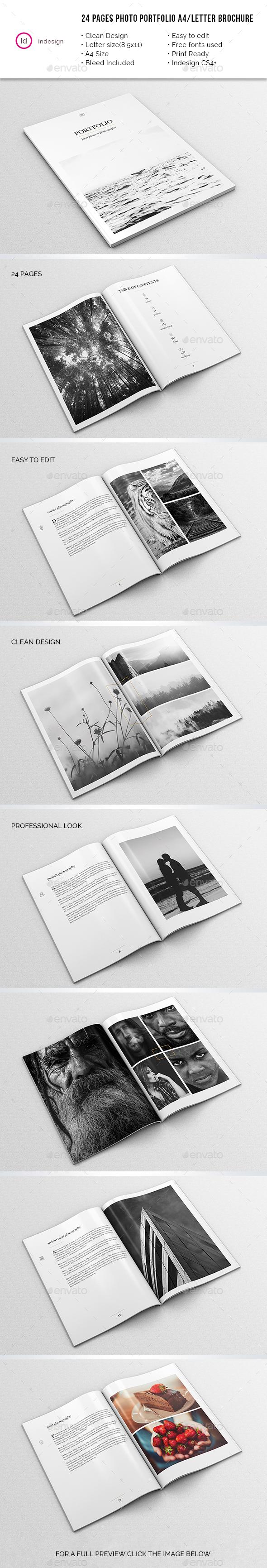 Photography Portfolio A4/Letter Brochure - Portfolio Brochures