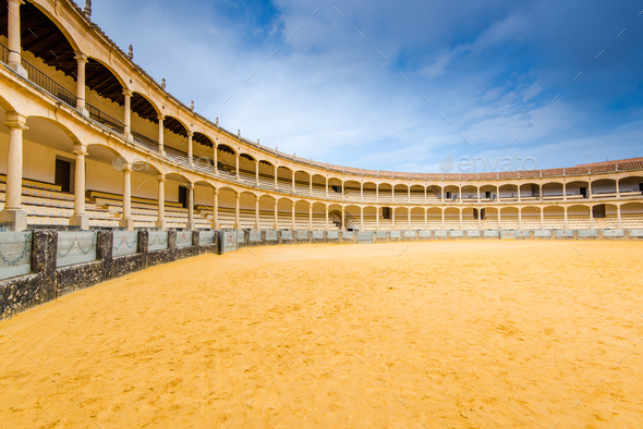 Famous bullring in Ronda,Spain - Stock Photo - Images