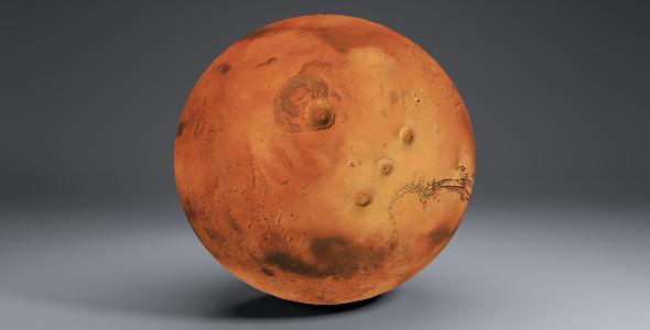 Mars 8k Globe - 3DOcean Item for Sale