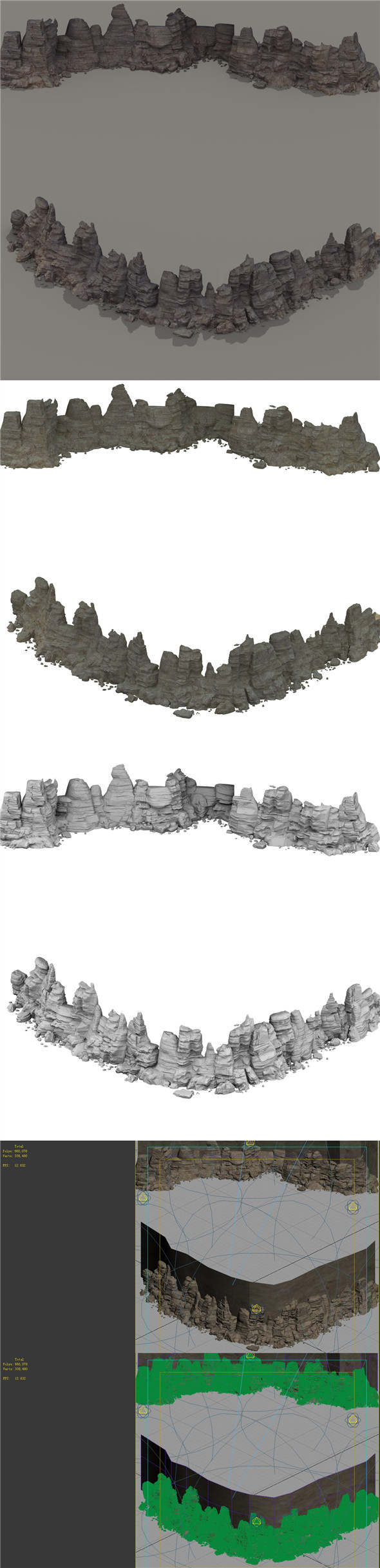 Mountain - terrain 10 - 3DOcean Item for Sale