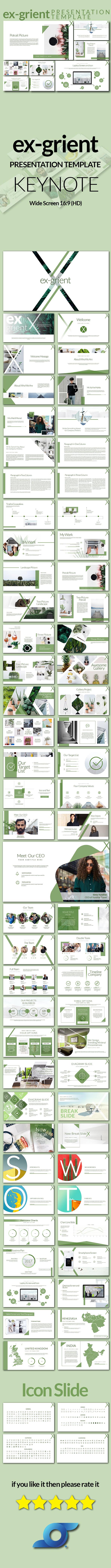 Ex-Grient Keynote Presentation - PowerPoint Templates Presentation Templates