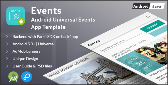 Events | Android Universal Events App Template - CodeCanyon Item for Sale