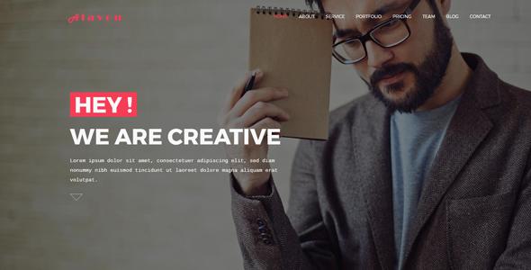Alavon - Responsive Multipurpose HTML5 Template - Portfolio Creative