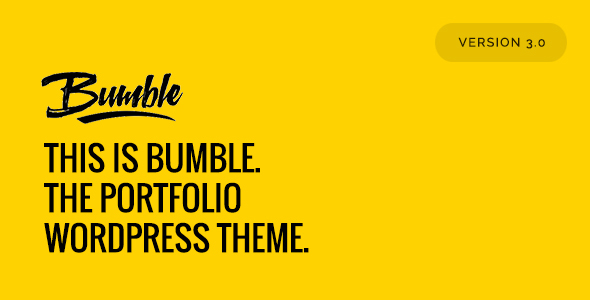 Bumble – The Portfolio WordPress Theme
