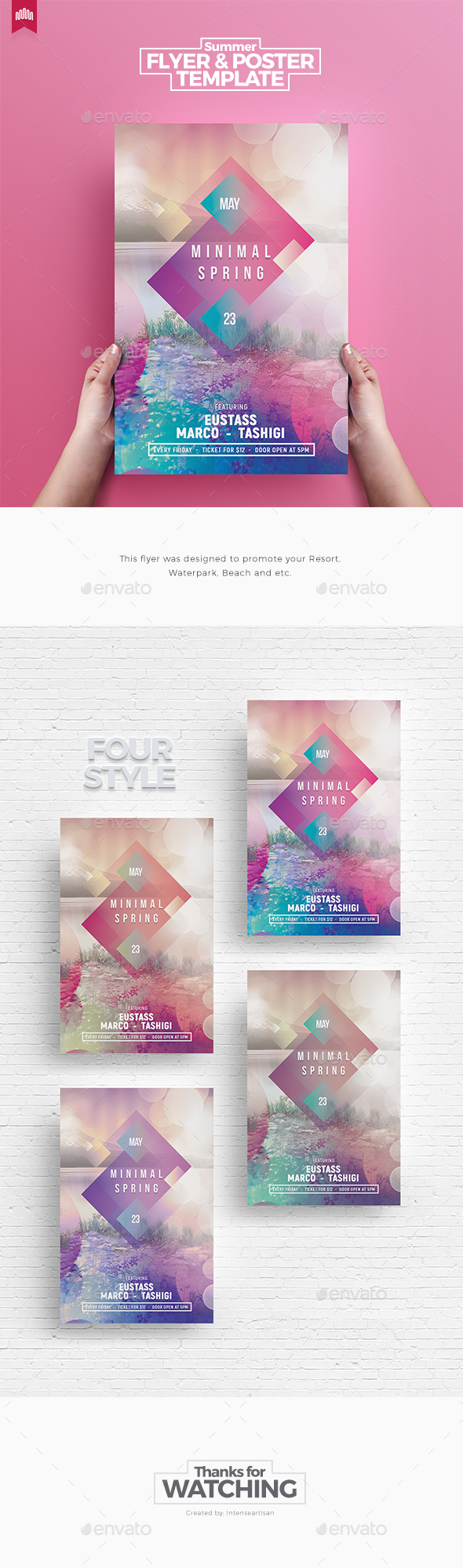 Minimal Spring - Flyer Template - Clubs & Parties Events