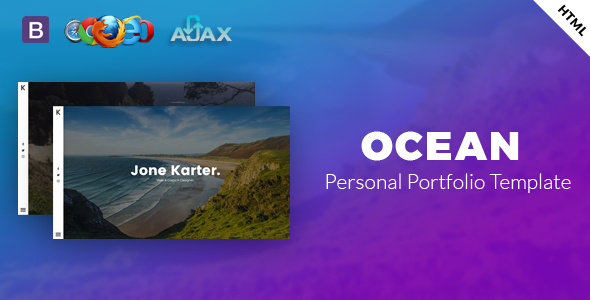 Ocean –  Personal Portfolio Template.