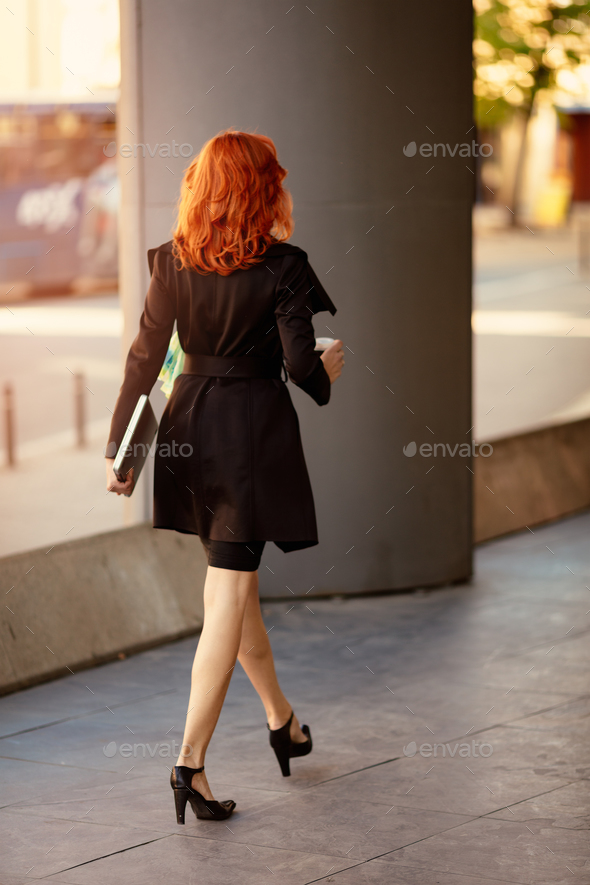 Succesfull Businesswoman On The Way In Building - Stock Photo - Images