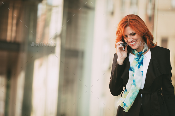 Happy Businesswoman After A Successful Meeting - Stock Photo - Images