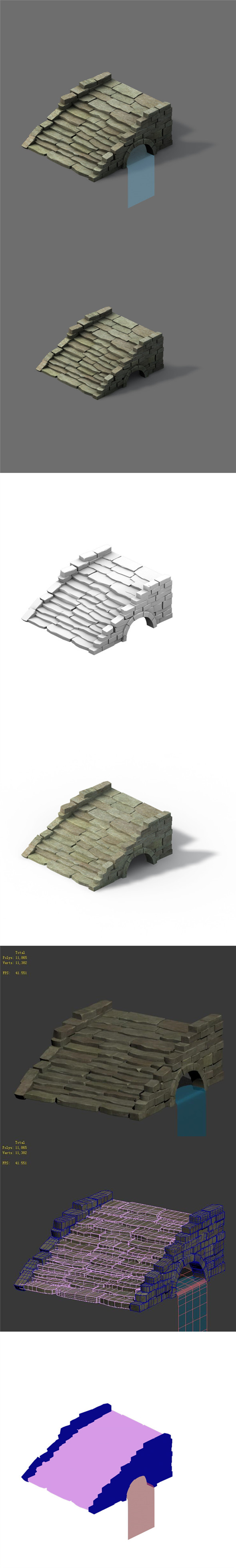 Mountain - terrain stone staircase 03 - 3DOcean Item for Sale
