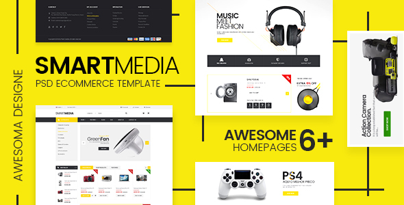 Smart Media - Ecommerce PSD Template - Retail PSD Templates
