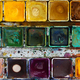 Various watercolor pigments in the color-saucer - PhotoDune Item for Sale