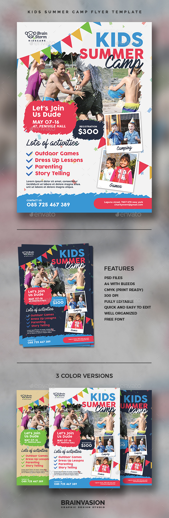 Kids Summer Camp Flyer Template - Corporate Flyers