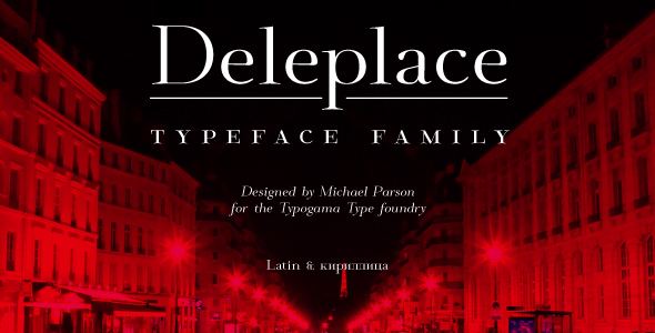 Deleplace - Serif Fonts
