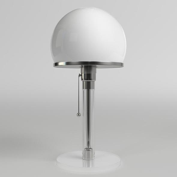 Wagenfeld Table Lamp - 3DOcean Item for Sale