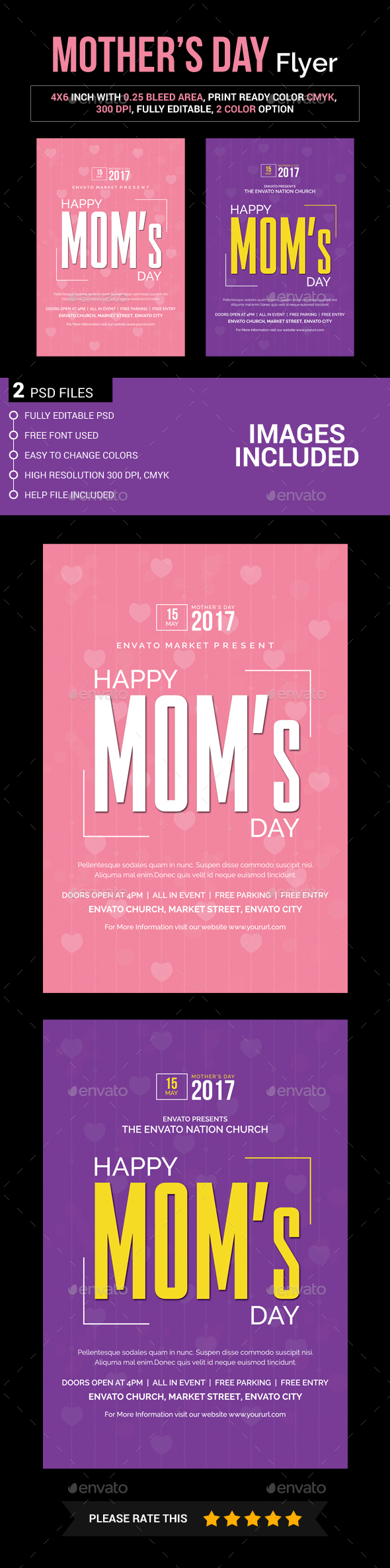 Mother's Day Flyer - Church Flyers