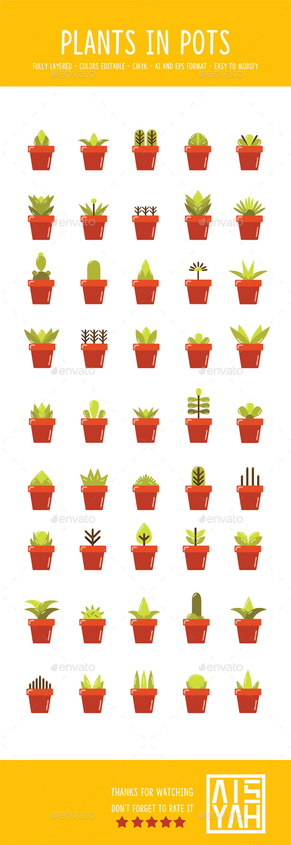 Plants In Pots - Organic Objects Objects