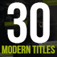 30 Modern Titles & Lower Thirds - VideoHive Item for Sale