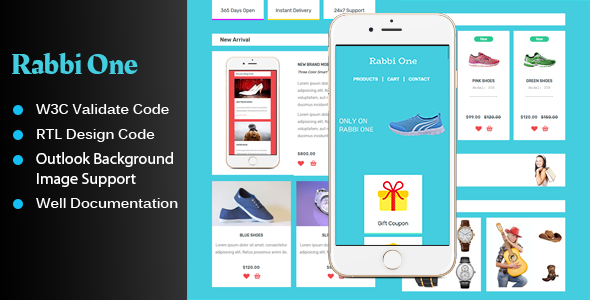 Rabbi One – UI KIT Style Email Template