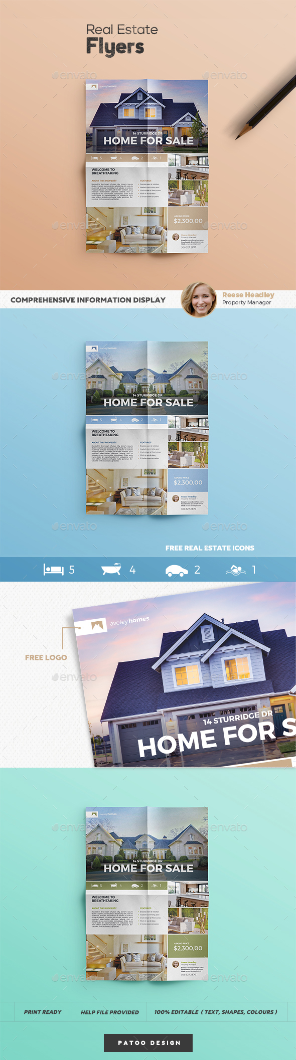Real Estate Flyer Template 1 - Commerce Flyers