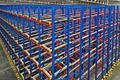 Warehouse storage inside shelving metal pallets