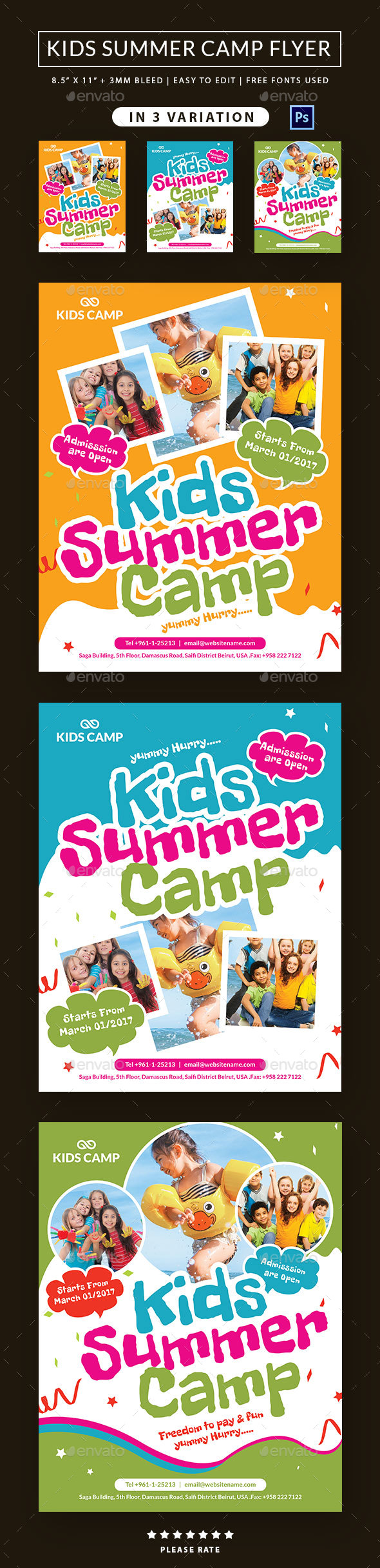 Summer Camp Flyer by Dhvxsyn | GraphicRiver