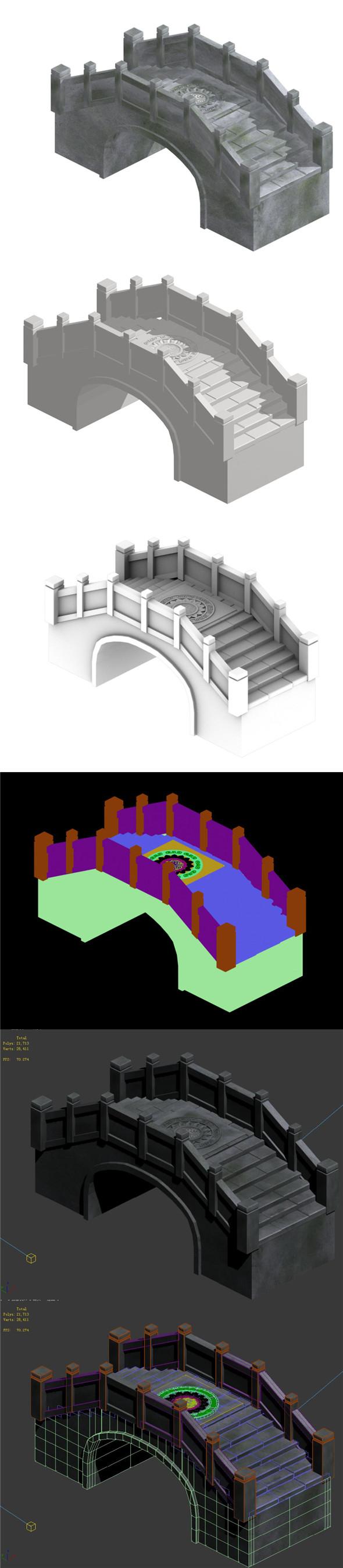 Stone arch bridge - 3DOcean Item for Sale