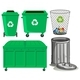 Green Trashcans with Recycle Sign - GraphicRiver Item for Sale