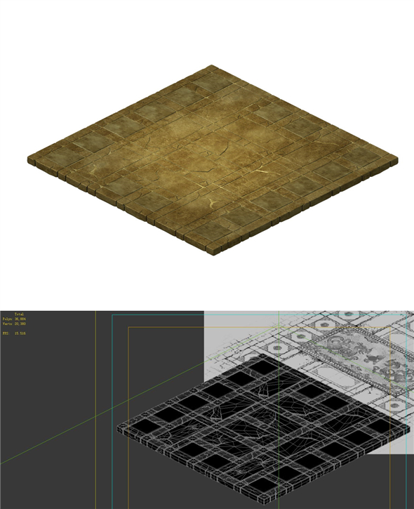 Game model - stone carving ground surface 03 - 3DOcean Item for Sale