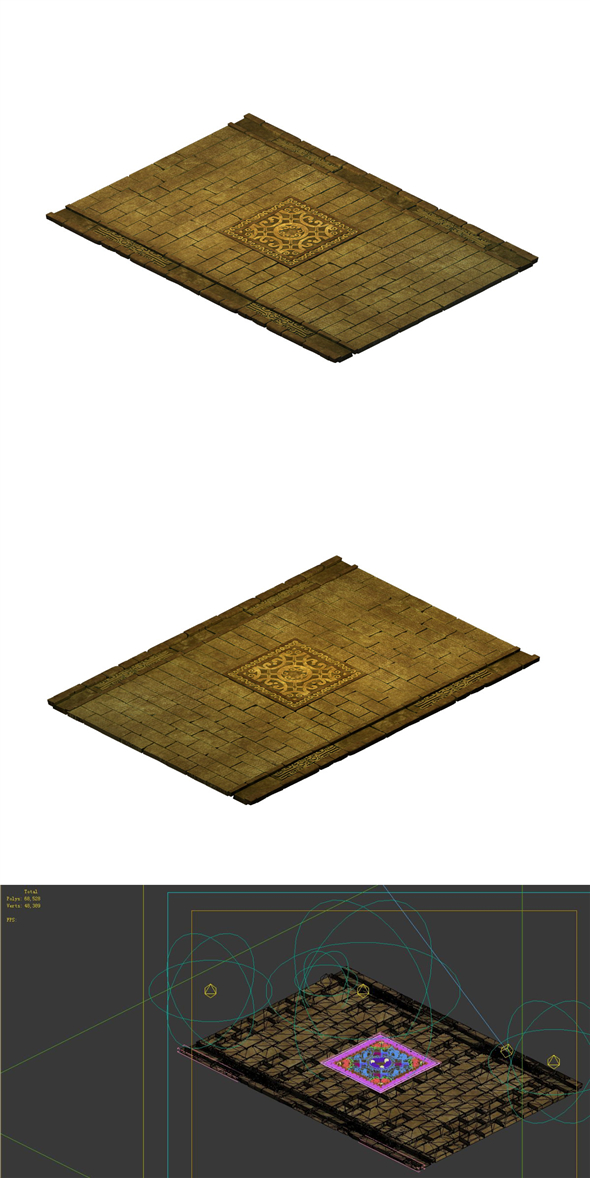 Game model - stone carving ground surface 05 - 3DOcean Item for Sale