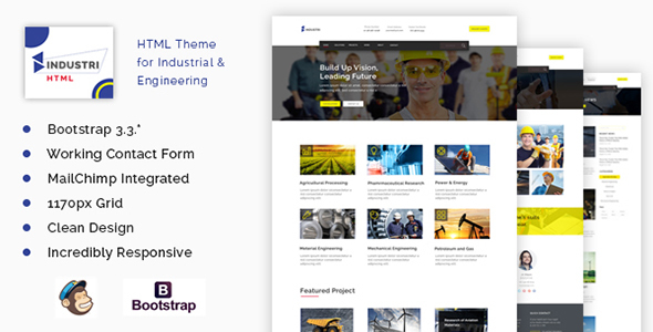 Industri – Ultimate Construction Responsive  HTML Template