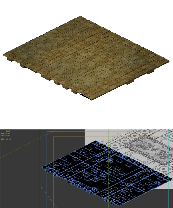 Game model - stone brick ground - 3DOcean Item for Sale
