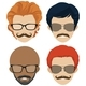 Mustach Styles and Glasses for Men - GraphicRiver Item for Sale