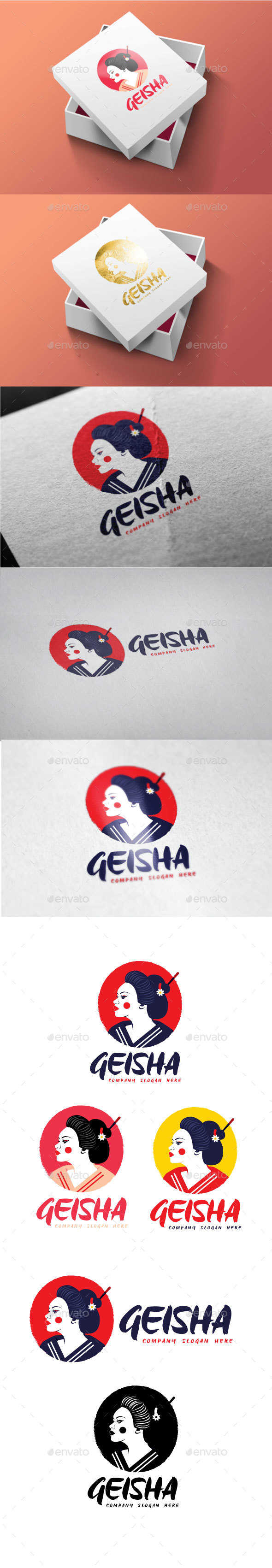 Geisha Logo - Objects Logo Templates