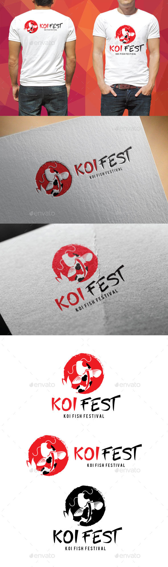 Koi Fest Logo - Animals Logo Templates