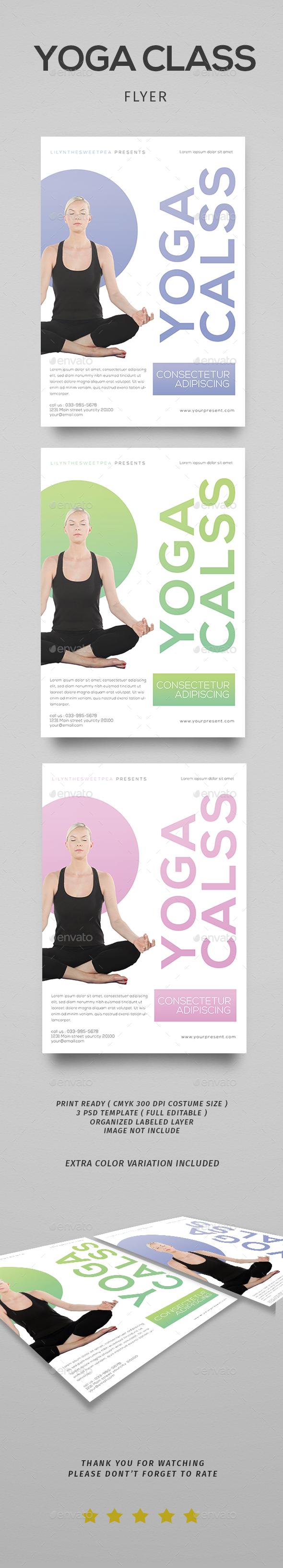 Yoga class vol.3 - Flyers Print Templates