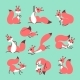 Cartoon Cute Squirrel. Little Funny Squirrels - GraphicRiver Item for Sale