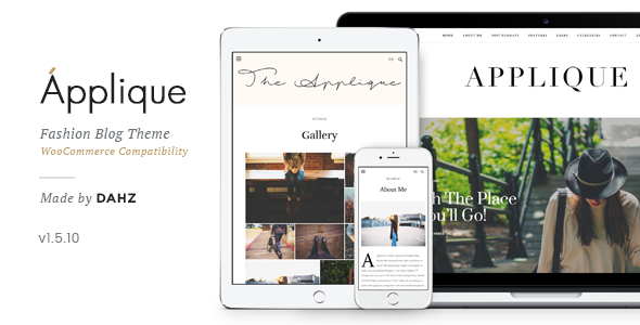 Fashion Blog Theme - Applique - Personal Blog / Magazine