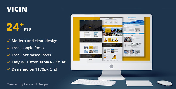 Vicin | Multipurpose Construction & Plumbing PSD Template