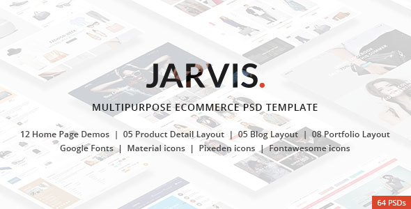 Jarvis – Multipurpose eCommerce PSD template