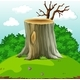 Background Scene with Log in the Field - GraphicRiver Item for Sale