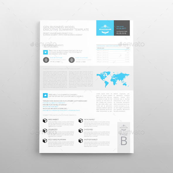 Executive Summary Template A4 By Keboto | Graphicriver