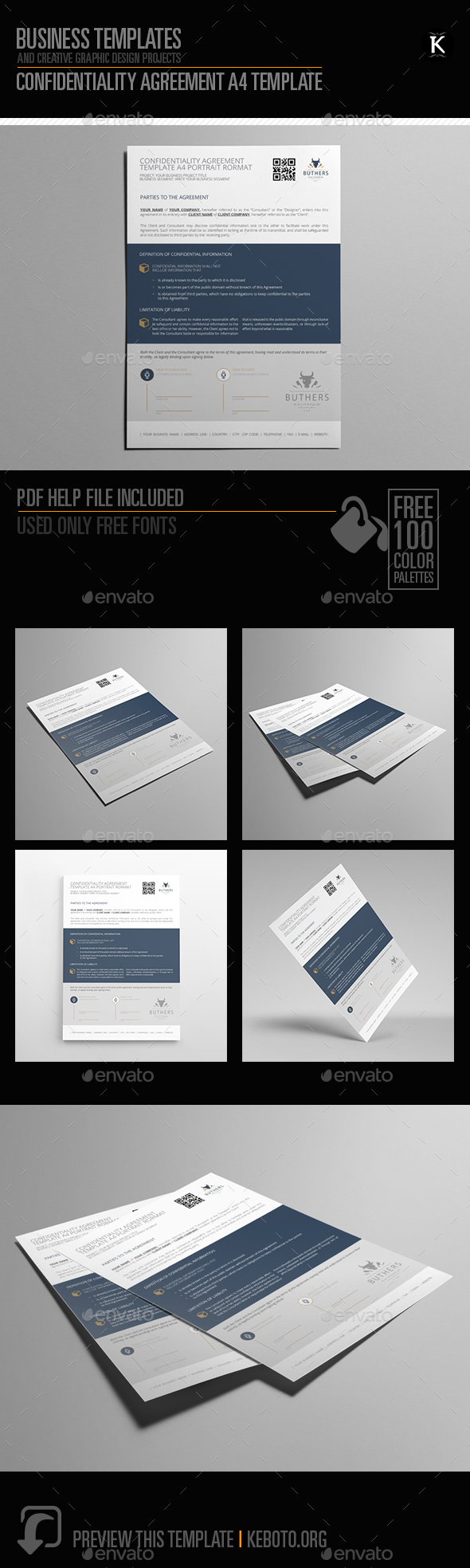 Confidentiality Agreement A4 Template - Miscellaneous Print Templates