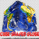 Cube-shaped Extruded Continents Globe Southern Hemisphere