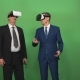 Two Businessman Using VR Headsets
