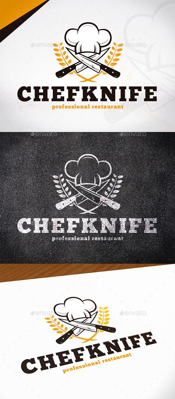 Chef Knife Logo Template - Restaurant Logo Templates