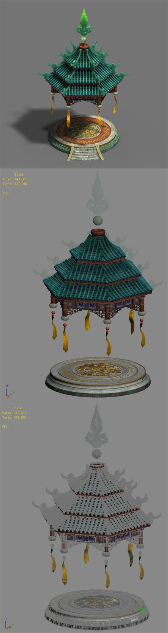 Shushan - small pavilion - 3DOcean Item for Sale